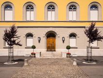 Historic Primary School in Murten, Switzerland. Royalty Free Stock Images