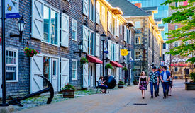 Historic Properties, Halifax Nova Scotia, Canada Royalty Free Stock Images