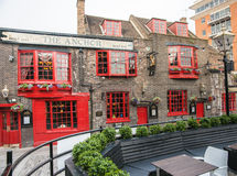 Historic pub The Anchor dates back to 1615 Royalty Free Stock Images