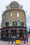 Historic pub in Shoreditch, London, UK Stock Image