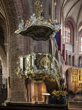 Historic pulpit in The Archcathedral Basilica of St. Peter and St. Paul in Poznan Stock Photos
