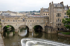 Historic Pulteney Bridge, Bath, England Stock Photos