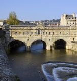 Pulteney Bridge, Bath, UK. Historic Pulteney Bridge, Bath, UK Royalty Free Stock Photography