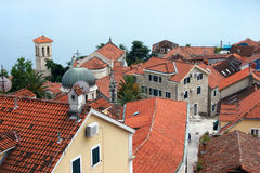 The historic quarter, Herceg Novi. View of the old town of Herceg Novi, Montenegro Royalty Free Stock Image