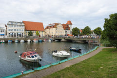 The historic quarter of Rostock - Warnemunde Royalty Free Stock Image