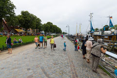 The historic quarter of Rostock - Warnemunde Royalty Free Stock Photo