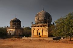 Historic Quli Qutb Shahi tombs stock photography
