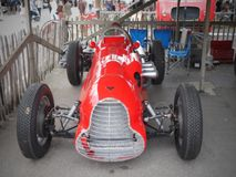 Goodwood Festival of Speed and Revival. The only historic race meeting to be staged in period theme, recreating the romance and glamour of motor racing as it stock image