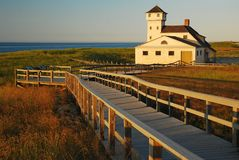 Race Point Coast Guard Station. The historic Race Point Coast Guard Station sits in Provincetown, at the tip of Cape Cod stock photography