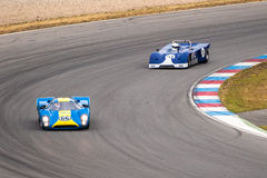 Historic racing cars Stock Photo