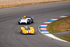 Historic racing cars Stock Images