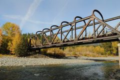 Historic Rail Trestle, Princeton BC Stock Images
