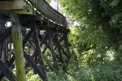 Historic railroad bridge Marietta Ohio royalty free stock photography