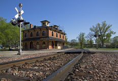 Historic Railroad Depot Stock Photography