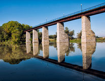 Historic Railroad Trestle Reflection Stock Photos