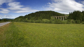 Historic railway bridge near city Telgart Stock Photos