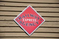 Historic Railway Express Agency sign Royalty Free Stock Photos