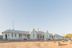Historic railway station, built 1928, in Keetmanshoop. KEETMANSHOOP, NAMIBIA - JUNE 13, 2017: The historic railway station, built 1928, in Keetmanshoop, the Royalty Free Stock Photography