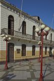 Historic Train Station of Arica. Historic railway station in the coastal city of Arica in northern Chile Stock Photo