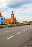 Historic railway station in Gdansk, Poland Stock Photos