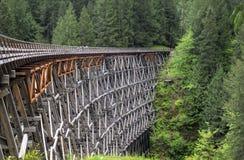 Historic Railway Trestle. Kinsol Trestle, a historic railway trestle is restored, Vancouver island, British Columbia Stock Photos