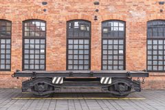 Historic railway wagon chassis Royalty Free Stock Images