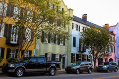 Historic Rainbow Row, Charleston, SC Royalty Free Stock Photos
