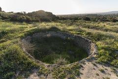 Historic Ranch Cistern at Santa Susana Pass State Historic Park. Historic ranch cistern at Santa Susana State Historic Park with the west San Fernando Valley Royalty Free Stock Images