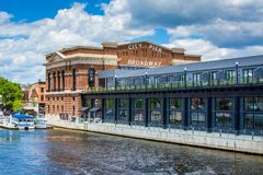 The historic Recreation Pier in Fells Point, Baltimore, Maryland.  royalty free stock photography