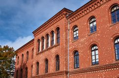 The historic red brick building Royalty Free Stock Photography