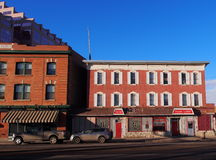Historic Red Brick Building In Edmonton Alberta Stock Images