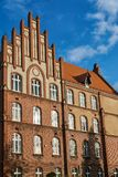 The historic red brick building stock images