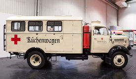 Historic Red Cross Kitchen Truck Stock Image
