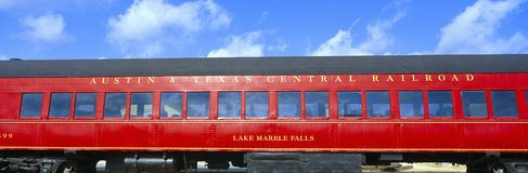 Historic red passenger car, Royalty Free Stock Image