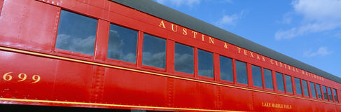 Historic red passenger car, Stock Photography