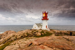 Lindesnes Lighthouse in Norway stock photography