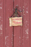 Rustic Red Wooden Door Stock Image