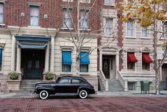 Historic reenactment of New York city scene. Nostalgic view of 50ies mafia lifestyle in America Stock Photo