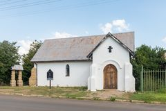 Historic Reformed Church in Wepener in the Free State. WEPENER, SOUTH AFRICA - APRIL 1, 2018: The historic Reformed Church in Wepener in the Free State Province Stock Photos