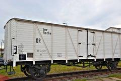 a historic Refrigerator wagon Stock Photo
