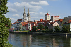 Historic Regensburg in Bavaria Royalty Free Stock Photos