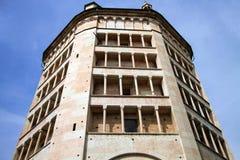 Historic religious edifice in Parma Stock Images