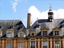 HIstoric residences Paris Le Marais area Royalty Free Stock Image