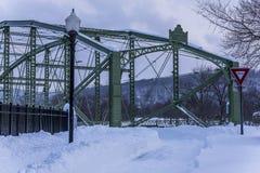 Historic and Restored Bridge After Major Snowstorm - Binghamton, New York Royalty Free Stock Photography