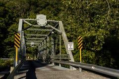 Historic and Restored Echo Dell Road Truss Bridge - Ohio Stock Photography