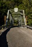 Historic and Restored Echo Dell Road Truss Bridge - Ohio Stock Image