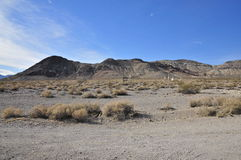 Historic Rhyolite Ghost Town, Death Valley. Remains of the old town of Rhyolite, in the Bullfrog mountains, Nevada stock photos