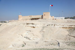 Historic Riffa fort in Bahrain Royalty Free Stock Images