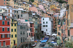 Historic Riomaggiore in Cinque Terre National Park, Italy Stock Photography