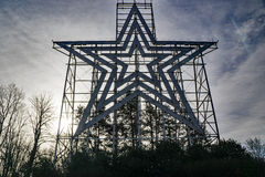 The Historic Roanoke Star, Roanoke, Virginia, USA. Roanoke, VA – December 28: An early morning image of the iconic Roanoke Star located on top Mill royalty free stock photo